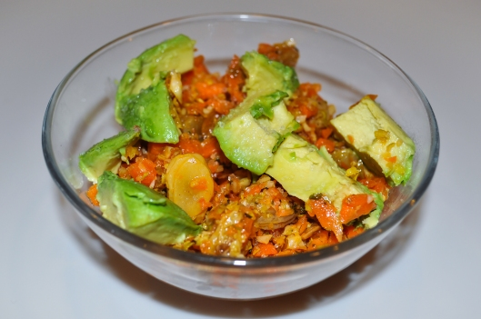 moroccan carrot salad w avocado