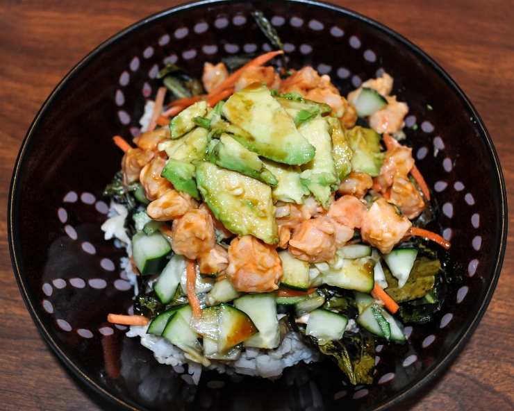 Sushi Salad OR the Lazy Girl's DIY Sushi Roll