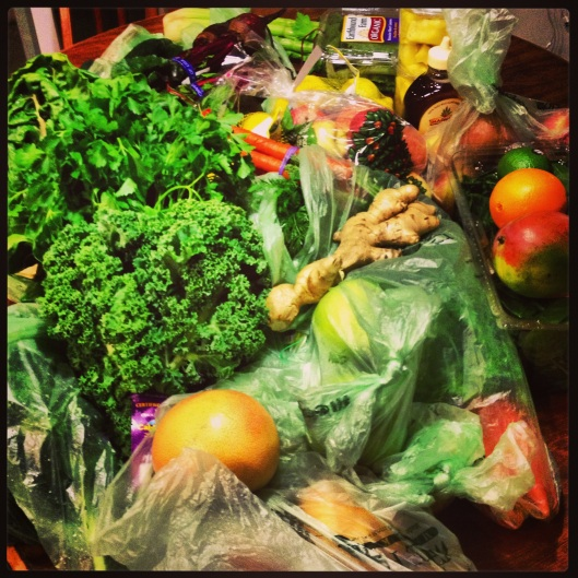 -This is what $115 of organic produce looks like.